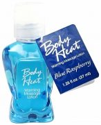 Body Heat Warming Massage Lotion Blue Raspberry 1.25oz.