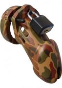 "Chastity 3 1/4""camouflage Cage"