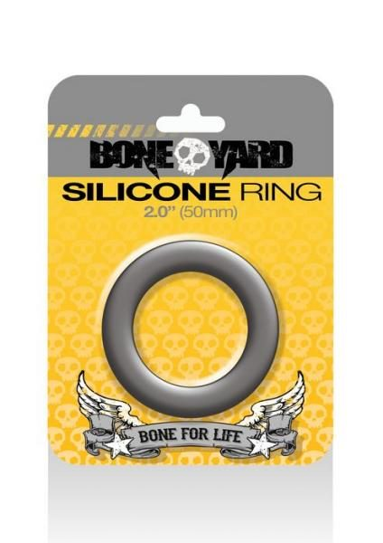 Boneyard Silicone Ring 2 inches Gray
