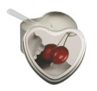 Edible Heart Candle - Cherry