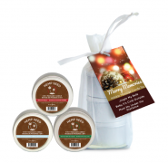 Holiday Trio Bag 3 Scented Massage Candles