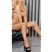 Diamond Net Bodystocking Black Queen