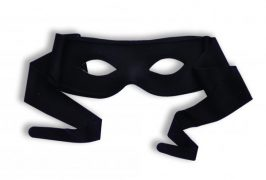 Masked Man with Ties Black O/S