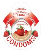 Endurance Flavored 3Pk Condoms-Straw