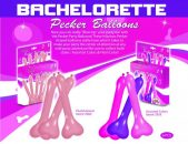 Pecker Balloons Beige 6 Pieces Box