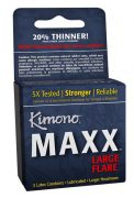 Kimono Maxx Large Flare 3 Pack Latex Condoms