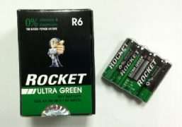 4 AA Batteries - Rocket Ultra Green