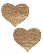 Love Liquid Gold Heart Pasties