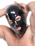 Fetish Fantasy Wet Look 3 Hole Hood For Him