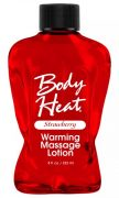 Body Heat Warming Massage Lotion Strawberry 8oz