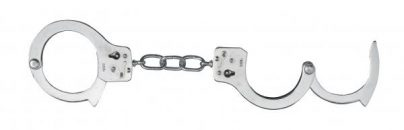 Nickel Coated Steel Handcuffs With Single Lock - Silver