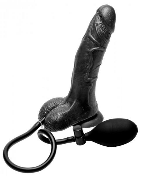 Inflatable Suction Cup Dildo – Black