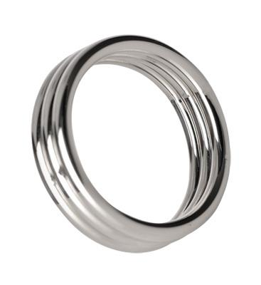 Echo 2 inches Steel Triple Cockring M/L